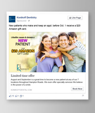 Dentistry Marketing Facebook Ad by BRITE