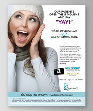 Konikoff Dentistry Flyer by BRITE