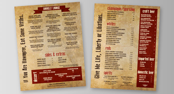 Hotel Restaurant Menu by BRITE
